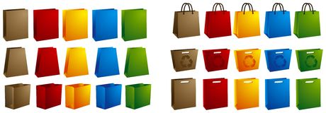 Vector shopping bags Stock Image