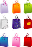 Vector shopping bags royalty free stock image