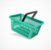 Vector shopping basket green Royalty Free Stock Photo
