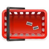 Vector Shopping Basket Royalty Free Stock Images