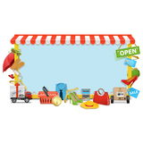Vector Shopping Board Royalty Free Stock Photography