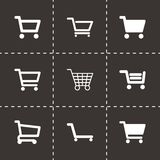 Vector shopping cart icon set Stock Images