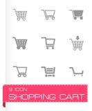 Vector shopping cart icon set Stock Photo