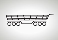 Vector shopping cart icons Royalty Free Stock Images