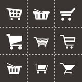 Vector shopping cart icons set Stock Photos