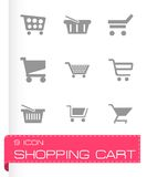 Vector shopping cart icons set Royalty Free Stock Photography