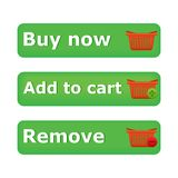 Vector shopping cart item - add,buy,remove buttons Stock Images