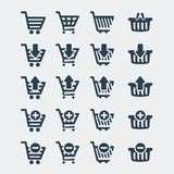 Vector shopping carts icons set Royalty Free Stock Images