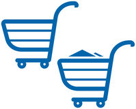 Vector Shopping Carts Illustration Stock Photo