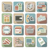Vector Shopping Flat Icons Stock Image