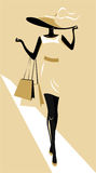 Vector Shopping Girl. Abstract illustration of a shopping girl stock illustration