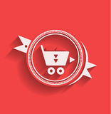 Vector shopping icon flat modern design Stock Image