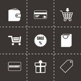 Vector shopping icon set Stock Image