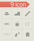 Vector shopping icon set Royalty Free Stock Image