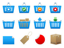 Vector shopping icons Stock Image