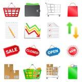 Vector shopping icons Stock Photo