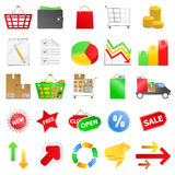 Vector Shopping icons Royalty Free Stock Images