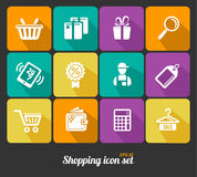 Vector Shopping icons flat Stock Photo