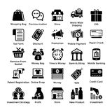 Vector Shopping Icons Set 2. Here is a very useful collection of shopping icons that you are sure to find a great use for. Pack of shopping themed icons are for Royalty Free Stock Photos