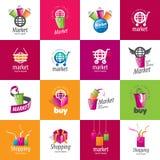 Vector shopping logo Stock Photography
