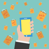 Vector shopping online Royalty Free Stock Image