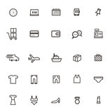 Vector shopping online web Thin lines  icons on white background Stock Image