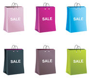 Vector shopping paper bags Stock Images