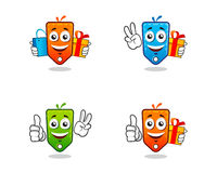 Vector shopping price tag character. Stock Images