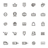 Vector Shopping sale Icons on white background Royalty Free Stock Images