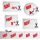 Vector shopping stickers Stock Images