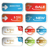 Vector shopping stickers Royalty Free Stock Photos