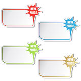 vector Shopping stickers Royalty Free Stock Images