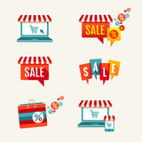 Vector Shopping Symbol Collection Stock Photography