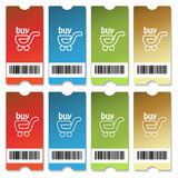 Vector shopping tickets Stock Image