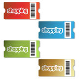 vector shopping tickets Stock Images