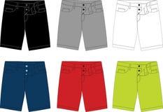Vector short pants for men 004 Stock Photo