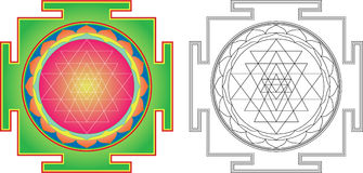 Vector Shri Yantra royalty free illustration