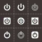 Vector shut down icon set Stock Photos