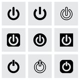 Vector shut down icon set. On grey background Royalty Free Stock Image