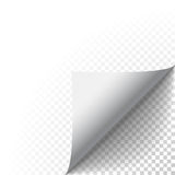 Vector sicker paper peel curled fold with shadow Royalty Free Stock Photos