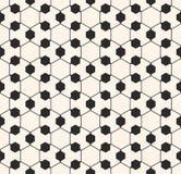 Vector sier geometrisch naadloos patroon Gevoelige hexagonale structuur Royalty-vrije Stock Foto's