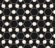Vector sier geometrisch naadloos patroon Hexagonaal netwerk Stock Afbeeldingen
