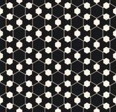 Vector sier geometrisch naadloos patroon Hexagonale textuur Stock Afbeeldingen