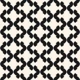 Vector sier naadloos patroon Zwart-wit geometrische textuur Stock Foto's