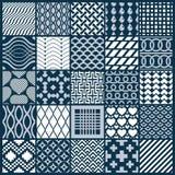 Vector sier zwart-witte naadloze geplaatste achtergronden, geomet stock illustratie