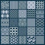 Vector sier zwart-witte naadloze geplaatste achtergronden, geomet royalty-vrije illustratie
