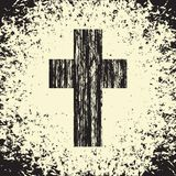 Black cross on grunge background textures royalty free illustration