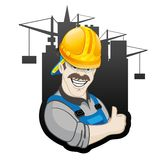 Vector sign. Builder. Stock Photography