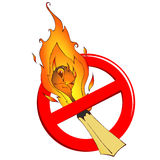 Vector sign with burning matches Royalty Free Stock Photography
