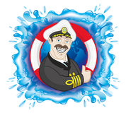 Vector sign. Captain. Stock Photography